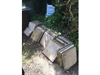 45x45cm concrete slabs