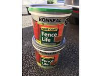 Brand new unopened ronseal fence paint