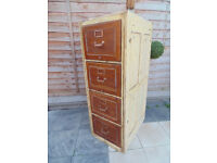 Stunning Edwardian Shabby Chic Filing Cabinet By Whitby Stamped 1906