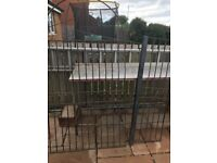Wrought iron gate with post