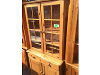 Pine Display Unit and Chest of Drawers