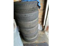 "15"" 5x110 vauxhall steel wheels with winter tyres included"