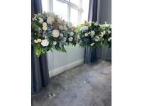 Wedding table centrepieces and garlands