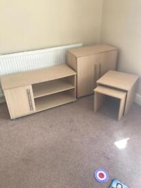 tv unit, side board, nest of tables