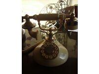 Antique style cream telephone REDUCED