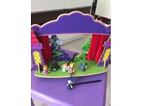 ELC Wooden Puppet Theatre with fairytale characters