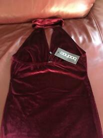 NEW WITH TAGS BOOHOO VELVET DRESS