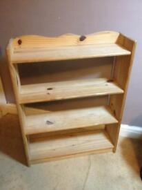 PINE SHELVING UNIT - WALL FIXABLE WITH 3 SHELVES