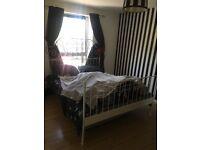 King size metal bed frame for sale.