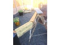 Vintage Wooden Step Ladders Shabby Chic Project Or Wedding Venue Decoration- can deliver