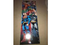 DC comics action heroes large wall art