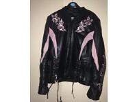 Ladies leather biker jacket