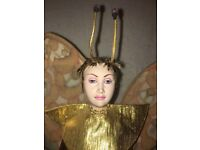 Very Rare antique dragonfly woman doll