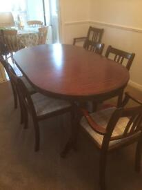 Mahogany Oval table + Chairs