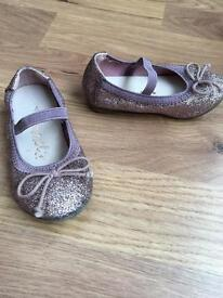 Next younger girls Sparkle Shoes- Size 4