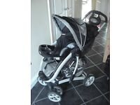 GRACO PUSHCHAIR, with rain cover and footmuff