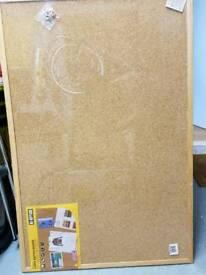 Unused - Cork notice board 90x 60cm