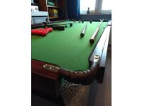 6'x 3' snooker table for sale