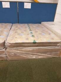 Robin quilted double divan bed