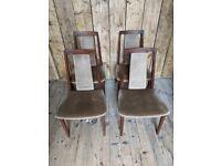 Rare G Plan solid afromosia teak dining chairs x4 Danish teak era gplanera