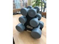 V Fit weights set and rack - as new