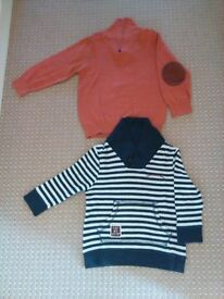 2-3 year boys (not worn) bundle of 2 tops with one button