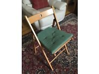 4 IKEA Fold Up Chairs, immaculate condition