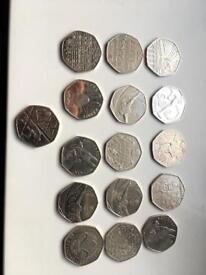 Rare 50p Collection