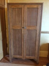 small oak wardrobe/cabinet/cupboard