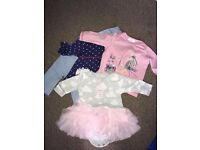 Baby girl clothes bundle - Newborn, 1 month and 0-3m