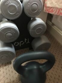 Dumbells and kettle bell collection only