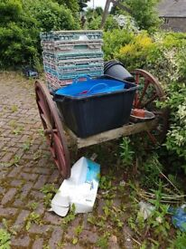 Vintage military style cart. Garden