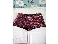 NEW Ladies Sequin Shorts. Size medium from New Look