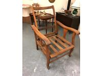 Beautiful antique teak recliner chair