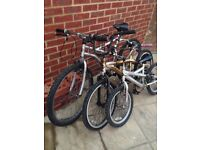 3 bicycles for £45