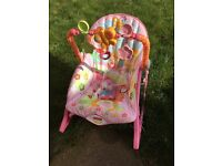 2 in 1 rocker and chair - good condition Fisher Price