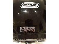 BOX - Motor Cycle Helmet - Full Face with Visor - Large - Gloss Black