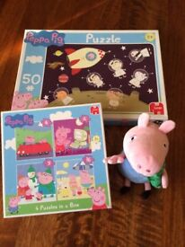 Peppa Pig jigsaw George plush bundle