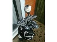 Slazenger golf clubs and golf bag