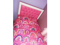 Princess Pink & Leather Diamond Single Bed