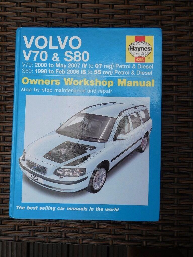 Haynes car manual. Volvo V70 & S80