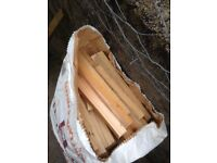 3 sacks kindling firewood