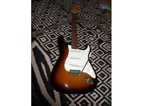Fender Squier Strat With Amp And Case
