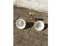 4 wall lights, 2 single and 2 double - £5 each or £15 for all 4