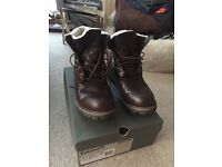 Timberland roll top men's boots size 9