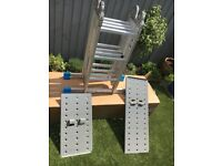 MacAllister combination ladder with platform 12 tread 4 in 1 functions