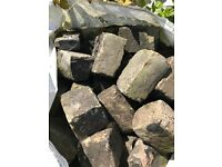 reclaimed granite setts and reclaimed large yorkstone setts for sale