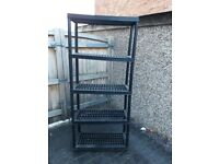 Heavy-duty plastic shelving units x 3