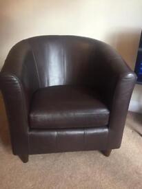 M&S genuine leather armchair