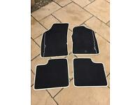 Genuine FIAT 500 floor mats , black with Ivory trim